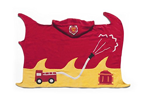 Price comparison product image Kidorable Boys Fireman Towel,  Red,  Size 3-6 Years