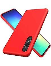 MUTOUREN Compatible con Samsung Galaxy A70 Funda Silicona TPU Gel Goma Cover Case Anti-Choque Duradero Suave Carcasa para Samsung Galaxy A70 - Rojo