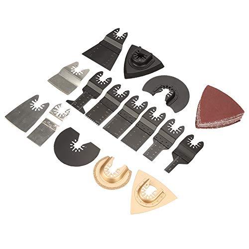 Kit de hojas de sierra, 40 piezas de hojas de sierra, kit de accesorios de herramientas múltiples oscilantes para reparar el corte