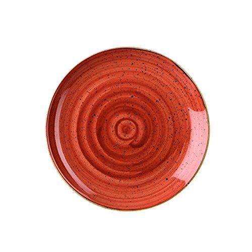 Churchill Stonecast -Coupe Plate Teller- Durchmesser: Ø26,0cm, Farbe wählbar (Spiced Orange)