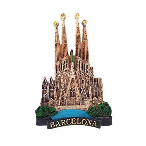 Bella Magneti per FrigoriferoCalamite da Frigo Fridge Magnet Sticker Viaggio Souvenir del Spagna Barcellona Sagrada Família Chiesa Carino Regalo Casa Decor