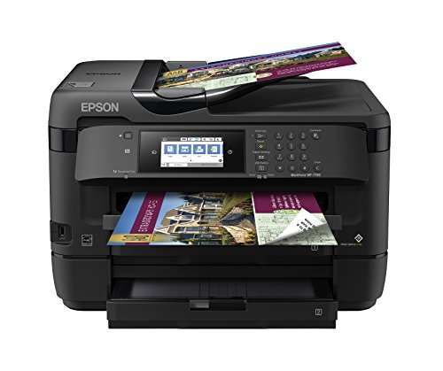 Epson WorkForce WF-7720 Wireless Wide-Format Color Inkjet Printer with Copy, Scan, Fax, Wi-Fi Direct and Ethernet, Amazon Dash Replenishment Enabled