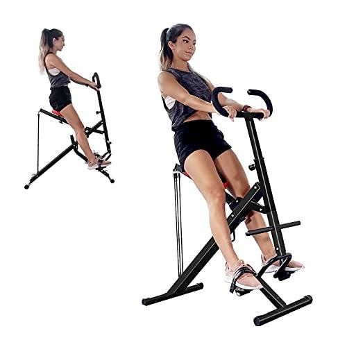 Dskeuzeew Rider Machine Fitness Entrenador de ejercicios abdominales con asiento ajustable Core & ABS para mujeres, niñas y hombres