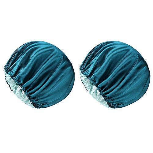 tellaLuna Gorro para el cabello rizado para dormir, diadema natural, adecuado para el sueño de las mujeres, color azul