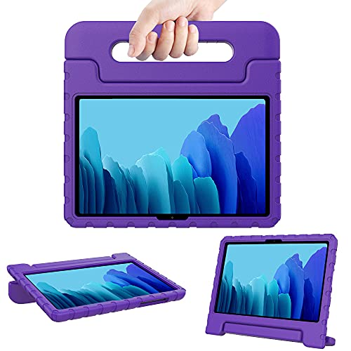 Surom Kids Case for Samsung Galaxy Tab A7 10.4' 2020 (Model SM-T500/T505/T507), Shockproof Lightweight Convertible Handle Stand Protective Kids Case for Tab A7 10.4 Inch 2020 - Purple