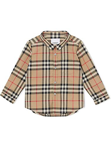 BURBERRY Luxury Fashion Baby 8014137 Beige Baumwolle Hemd | Jahreszeit Permanent