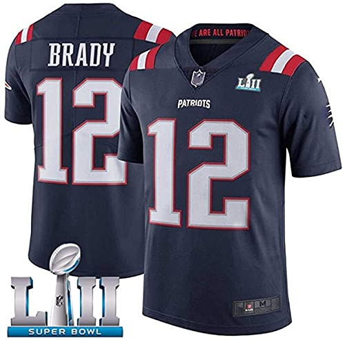 2021 Super Bowl 12 # Tom Brady New England Blue Patriots Rugby Rugby Jersey Football Jersey Men's Jersey Polo Shirts Camisa de entrenamiento de la camisa de la ropa de deporte de la ropa deportiva de