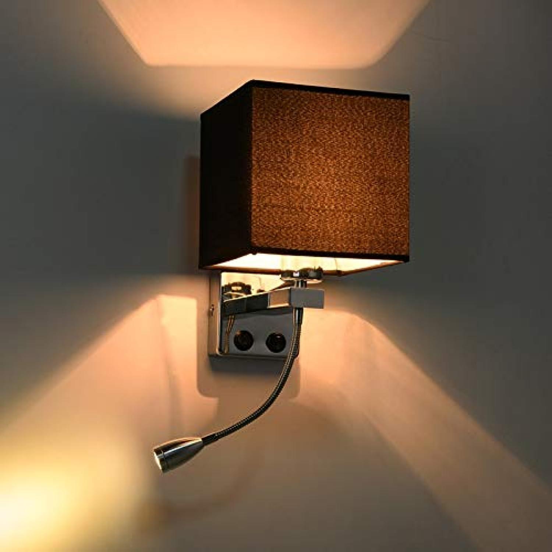 XY&XH Wandlampe, LED-Nachttischlampe mit Schalter und flexiblem Leselicht Kopfteil für Treppenhaus Wohnzimmer Schlafzimmer Gang Balkon, D