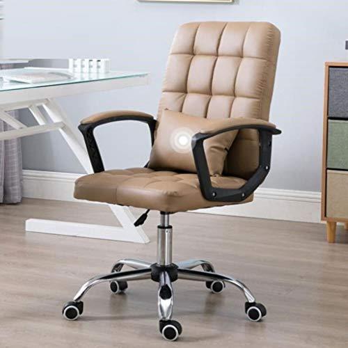 QIFFIY Silla de oficina ergonómica para computadora de escritorio, silla de juegos, silla de oficina, silla giratoria para trabajadores de oficina y estudiantes (color: caqui)