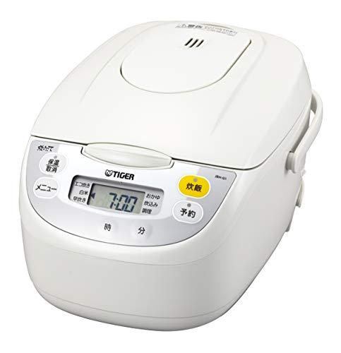 タイガー魔法瓶(TIGER) 炊飯器 5.5合 マイコン 調理メニュー付き 炊きたて ホワイト JBH-G101W