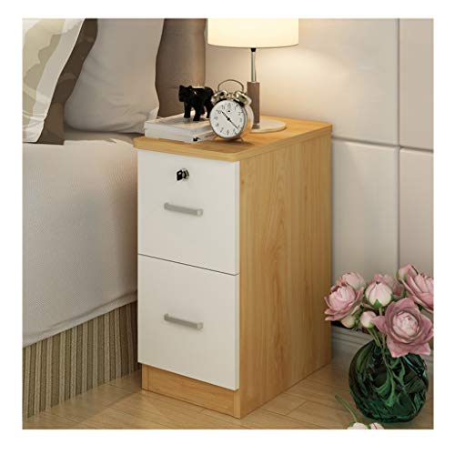 Bedside Table Bedroom Bedside Table Furniture Assemble Storage Cabinet Office End Tables Locker Double Drawer Nightstand Nightstand (Color : C)