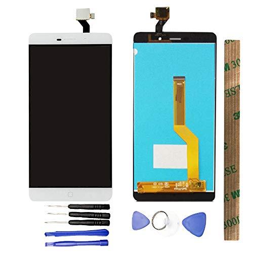 JayTong - visualización LCD y digitalizador de visualización táctil de Repuesto para Elephone P9000 P9000D P9000E / P9000 Lite Blanco