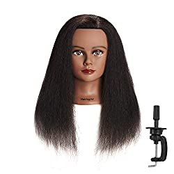 in budget affordable Hairingrid Mannequin Head 16 ″ 100% Natural Hair Hairdressing Beauty Mannequin Mannequin Training…