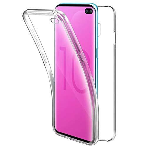 TBOC Funda para Samsung Galaxy S10 Plus - Samsung S10+ (6.4') - Carcasa [Transparente] Completa [Silicona TPU] Doble Cara [360 Grados] Protección Integral Total Delantera Trasera Lateral Móvil