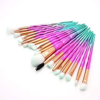 ZYC 20pcs Pinceaux à Maquillage Professionnel Pinceau à Blush/Pinceau Fard à Paupières/Pinceau à Lèvres Fibre Nylon Couvrant