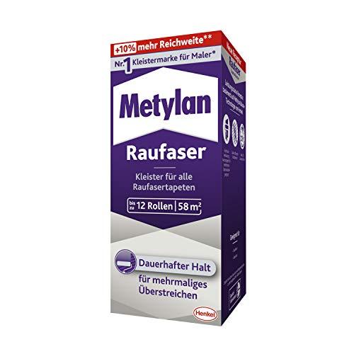 Metylan Raufaser, starker Tapetenkleister für Raufasertapete mit hoher Anfangsklebkraft, langlebiger & korrigierbarer Kleister mit Methylcellulose, 1x360g