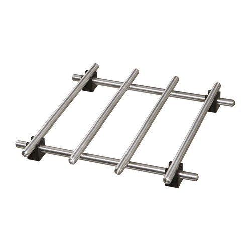 Ikea, Lampling, griglia poggia pentola, isolante termico per la tavola, 17,8x 17,8cm, in acciaio inox