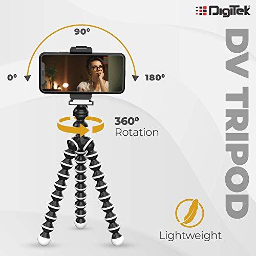 DIGITEK Gorilla Tripod/Mini (12 Inch) Tripod for Mobile Phone with Phone Mount & Remote   Flexible Gorilla Stand for DSLR & Action Cameras (DTR 260 GT)