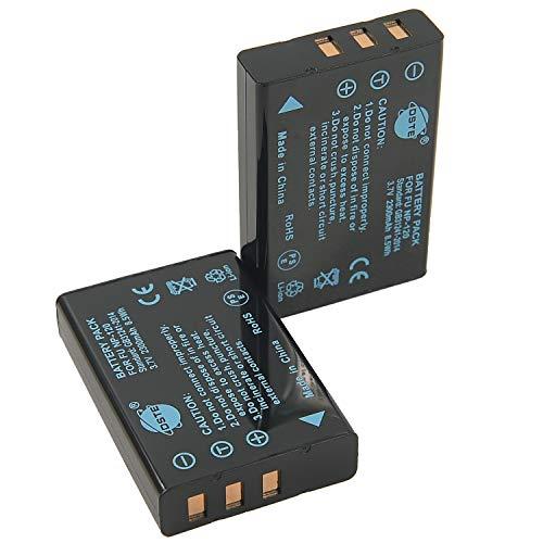 DSTE 2-Pieza Repuesto Batería para Fujifilm NP-120 FinePix 603 F10 F11 M603 F10 Zoom F11 Zoom M603 Zoom Camera as PENTAX D-LI7 RICOH DB-43 KYOCERA BP-1500S YASHICA BP-1500S