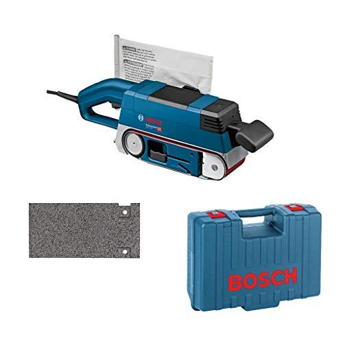 Bosch Professional GBS 75 AE Set - Lijadora de banda (750 W, ancho banda 75 mm, colector polvo, en maletín)