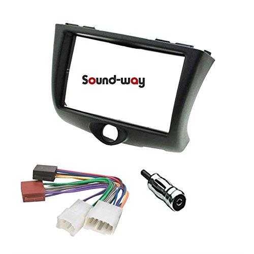 Sound Way Kit Montaggio Mascherina Adattatore autoradio Stereo 1 DIN Compatibile con Toyota Yaris 1999-2003