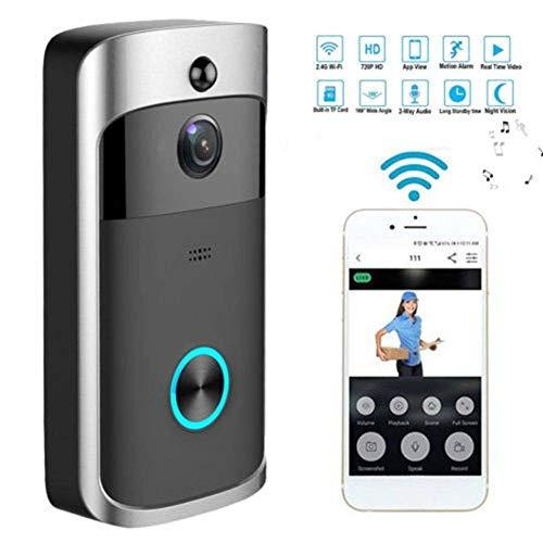 YLXD Video Doorbell, 720P HD con Audio bidireccional detección de Movimiento y conexión WiFi Videoportero Inalámbrico Videoportero Burglar Reminder App for Android,iPhone,iPad