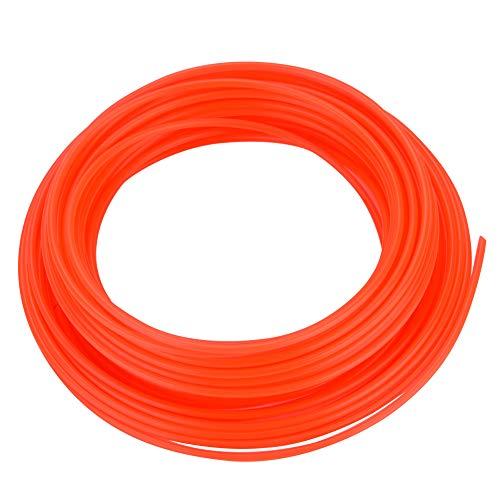 iFCOW Línea de Cable de Recortadora Redonda de 1 Pieza para Cortadora de Césped Cortadora de Césped Cortadora de Césped Strimmer Rojo 2 4 Mm * 15 M