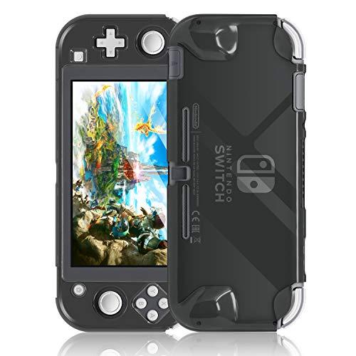 Fyoung Crystal Ultra Cover Hülle für Switch Lite, dünne leichte Hartschale Schutzhülle für Nintendo Switch Lite (Grau)