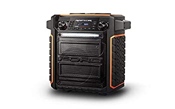 ION Audio Raptor | Ultra-Portable 100-Watt Wireless Water-Resistant Speaker with 75-Hour Rechargeable Battery Bluetooth Streaming AM/FM Radio and Multi-Color Light Bar