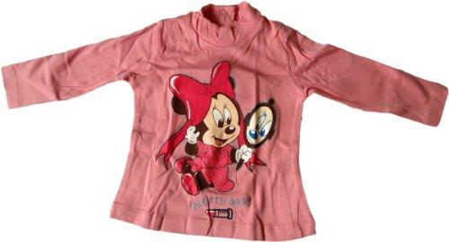 Disney Minnie Maus Baby Langarmshirt - Smiling Baby Minnie Mouse - Pink/Glitzer