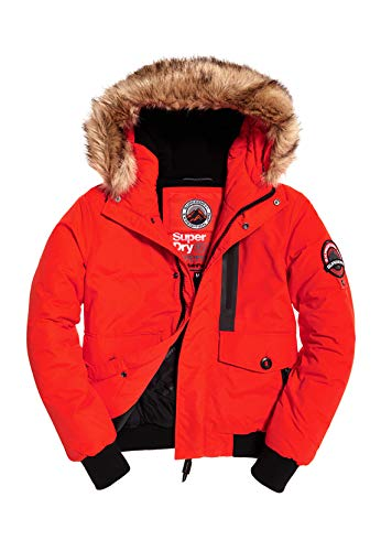 Superdry Jacke Herren Everest Bomber Bold Orange, Größe:XL