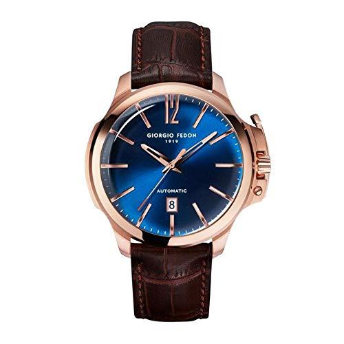 Giorgio Fedon Orologio Automatico Uomo Timeless VI Oro Rosa Quadrante Blu GFCE005