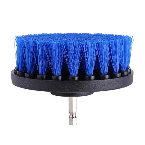 Cepillo de taladro, Limpiador de lechada de azulejos Fregadora eléctrica Bañera Cepillo de taladro de inodoro Accesorio de herramienta de limpieza de alfombras(4 inches)