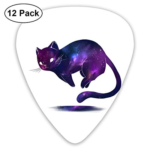 Galaxy Cat Guitar Picks (12-Pack) Guitar Picks For Acoustic Guitars Includes Thin, Used For Ukulele And Other Instruments