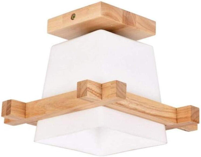 Kronleuchter Deckenleuchte Led-Lichtnordic Style Log Massivholz Eiche Deckenleuchte