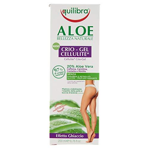 Equilibra Corpo, Aloe Crio-Gel Cellulite, Gel Fresco a Base di Aloe Vera, Favorisce la Circolazione Periferica, Contrasta Ritenzione Idrica, Cellulite e Pelle a Buccia d'Arancia, 200 ml