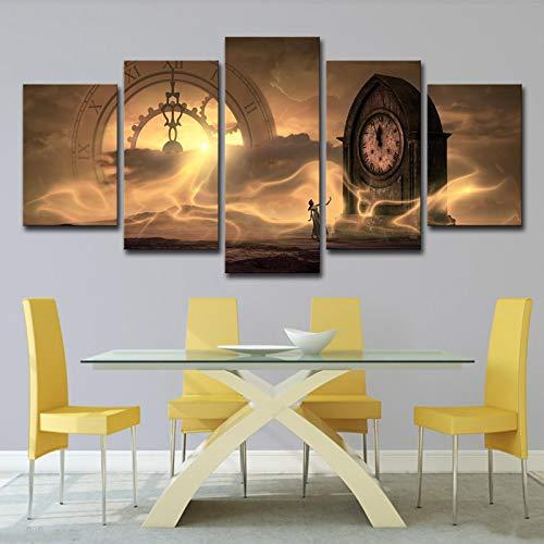 SWXXLY Póster Arte de pared mujer reloj creativo inspiración diseño decoración -40x60 40x80 40x100cm No Frame
