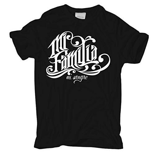 Männer und Herren T-Shirt La Familia Mi Familia Mi Sangre Größe S - 8XL