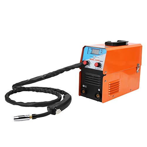 Saldatore MIG-200 Saldatrice Elettrica 200A Attrezzatura per Saldatura MIG Senza Saldatore a Gas Strumento per Saldatura ad Arco di Argon 220V