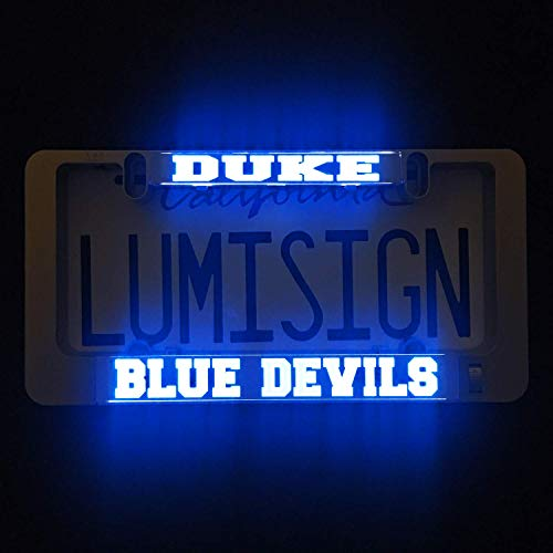 LumiSign – The Auto Illuminated License Plate Frame | Lights Up While You Brake | Installs in Seconds | No Wires, Battery Operated | Interchangeable Inserts