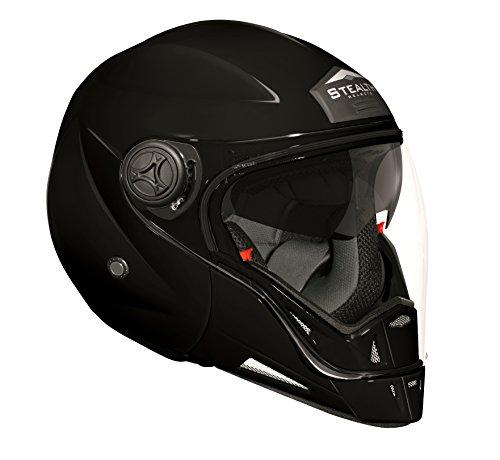 Stealth Phantom Convertible Helmet (Gloss Black, X-Large)