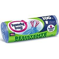 Handy Bag Bolsas de Basura 100L, Extra Resistentes, No Gotean, 10 Bolsas