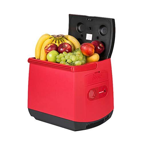 25L Car Réfrigérateur Car Home Double Usage Mini Réfrigérateur Portable Chauffage et Refroidissement Box Rouge