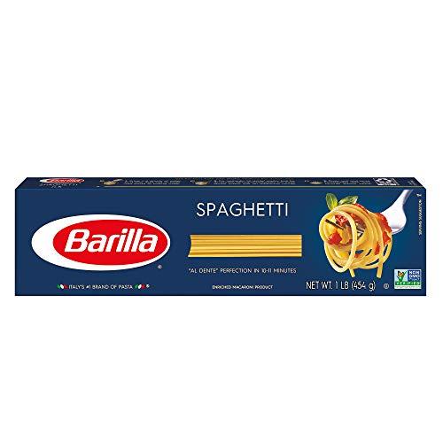 BARILLA Blue Box Spaghetti Pasta, 16 oz. Boxes (Pack of 8), 8 Servings per Box - Non-GMO Pasta Made with Durum Wheat Semolina - Italy's #1 Pasta Brand - Kosher Certified Pasta