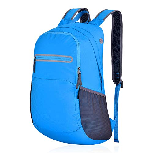 DLC@ED Waterproof Backpack Outdoor Hiking Camping Travel Small Packable Shoulder Lightweight Daypacks Casual Foldable Bag 25L / Blue