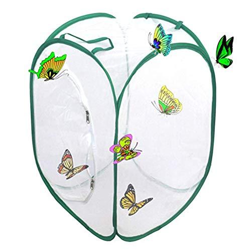 Schmetterlinge Züchten Schmetterlingsgarten für Fang, Schmetterling Habitat Zuchtset Schmetterlinge, Faltbarer Insekten Schmetterlingskäfig zum Aufklappen Terrarium Faltbarer Stoffkäfig