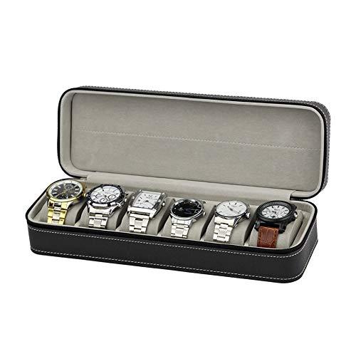 YUDIYUDI Glas-Kasten-Speicher-Halter-Organisator, Watch Box Display Organizer Schmuck Display Box for Männer und Frauen (Farbe : Schwarz, Größe : Einheitsgröße)