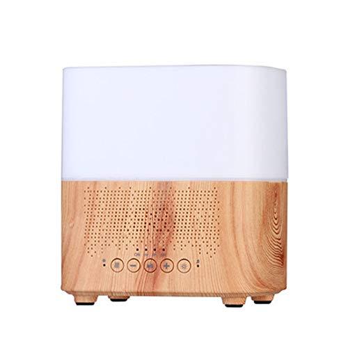 Nrpfell 300 ML Difusor de Aceite de Aroma Multifuncional con Reloj Despertador Aromaterapia Humidificador de Aire UltrasóNico para Oficina Casa con Enchufe de la UE Color Claro
