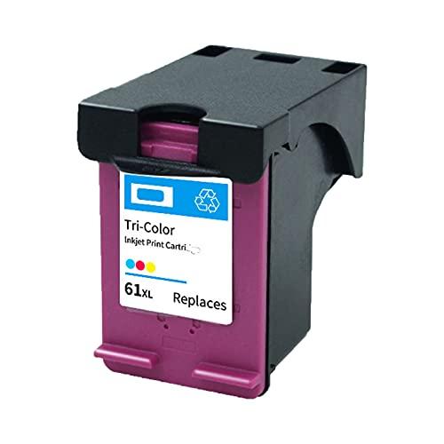 RICR Cartuchos de Tinta de reemplazo para HP 61XL, Compatible para Deskjet 1000 1010 1011 Envy 4500 4501 4502 OfficeJet 2620 2621 2622 2623 Impresora 61XL C