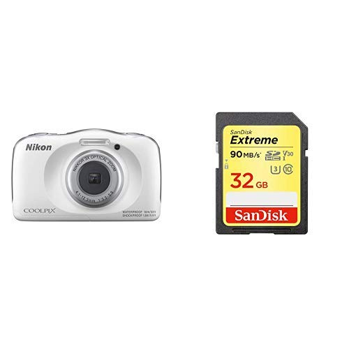 【SDカードセット】Nikon デジタルカメラ COOLPIX W150 防水 W150WH クールピクス ホワイト + SanDisk Extr...
